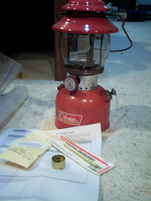 Coleman 200a Conversion To A 201 Classic Pressure Lamps