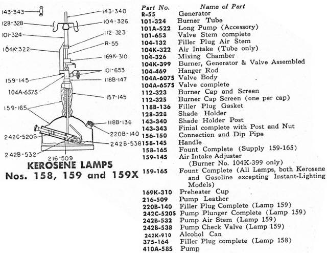 1966 Coleman Table Lamp  Model