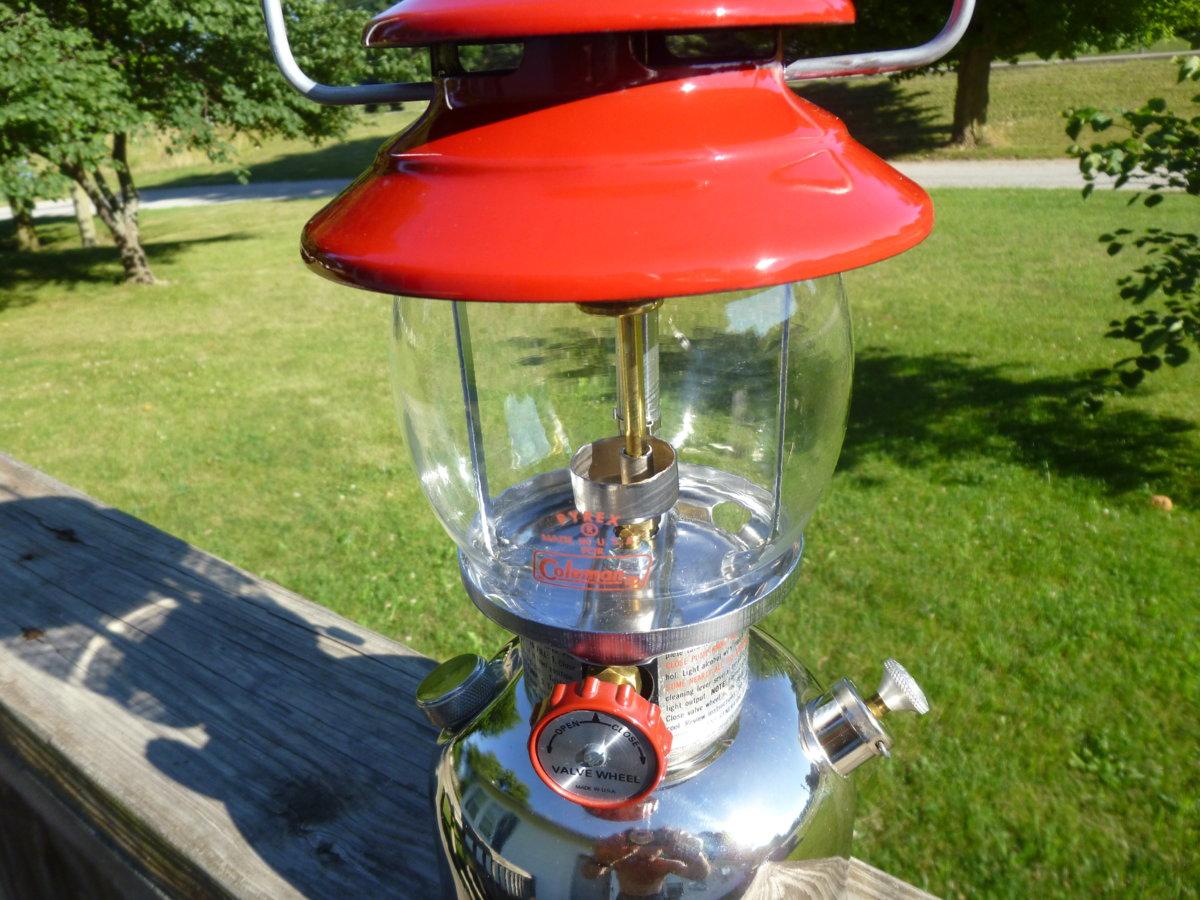 Coleman 201-720 Red Chrome Kerosene Lantern 2 75 | Classic Pressure