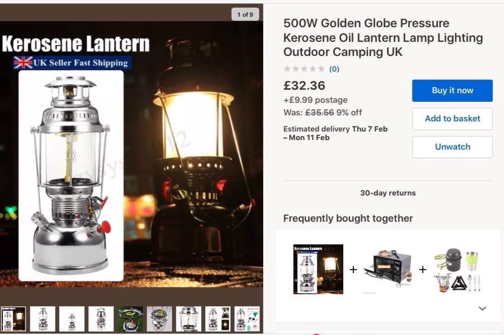 Golden Globe 500cp Lantern Ebay Buy It Now Classic Pressure Lamps Heaters